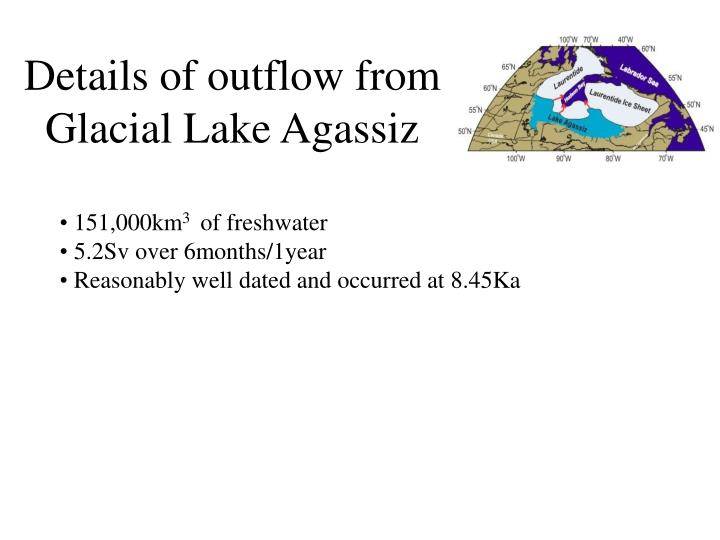 Details of outflow from Glacial Lake Agassiz