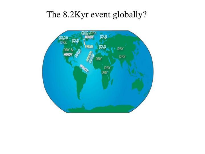 The 8.2Kyr event globally?