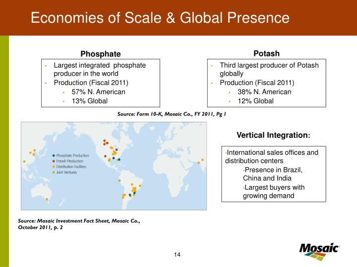 Economies of Scale & Global Presence