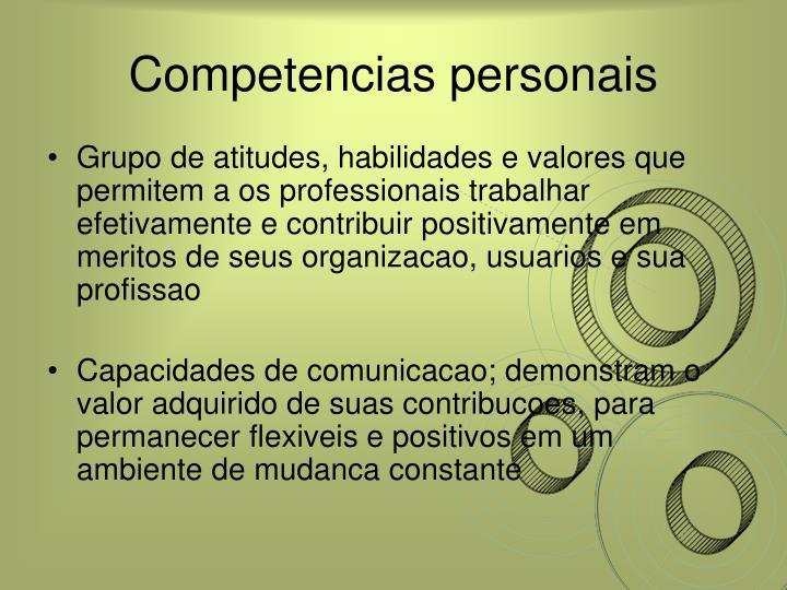 Competencias personais