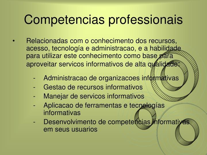 Competencias professionais