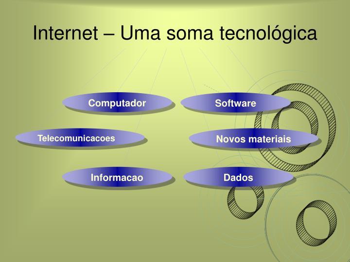 Internet uma soma tecnol gica
