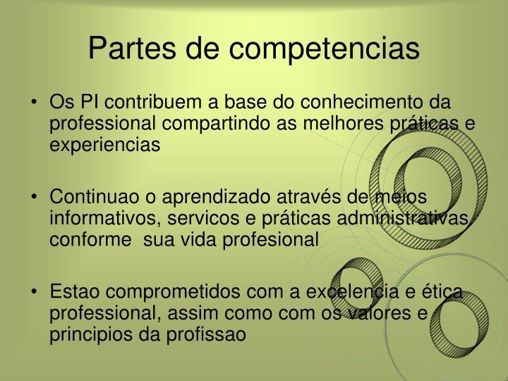 Partes de competencias