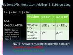 scientific notation adding subtracting