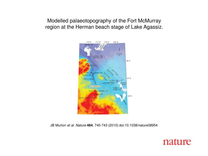 Modelled palaeotopography of the Fort McMurray