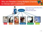 why are retailers using multiple channels to interact with customers1