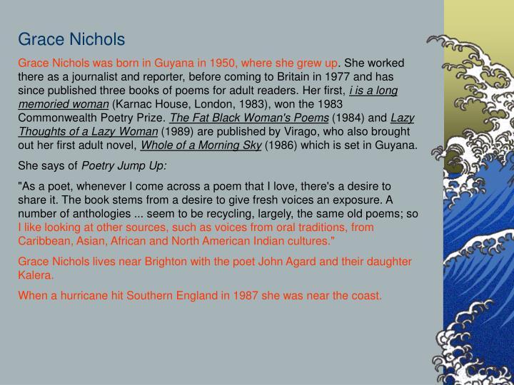 grace nichols hurricane hits england poem