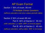 ap exam format