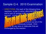 sample q 4 2010 examination