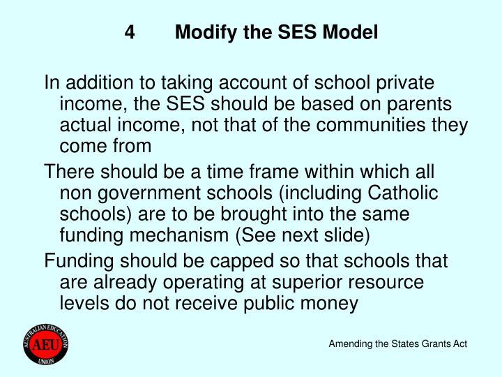 4Modify the SES Model