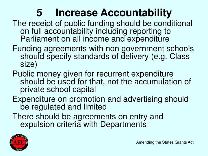 5Increase Accountability