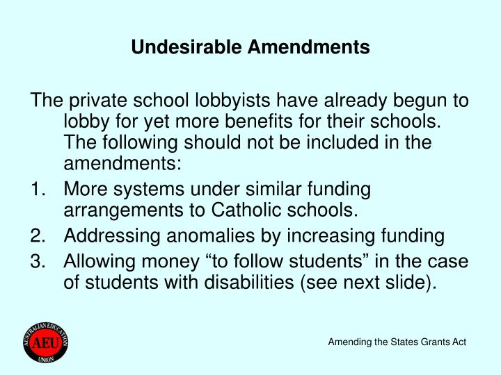 Undesirable Amendments