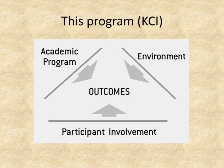 This program (KCI)