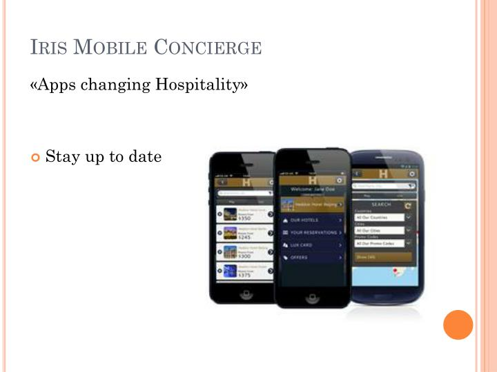 Iris mobile concierge