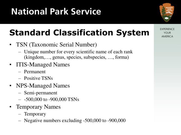 Standard Classification System