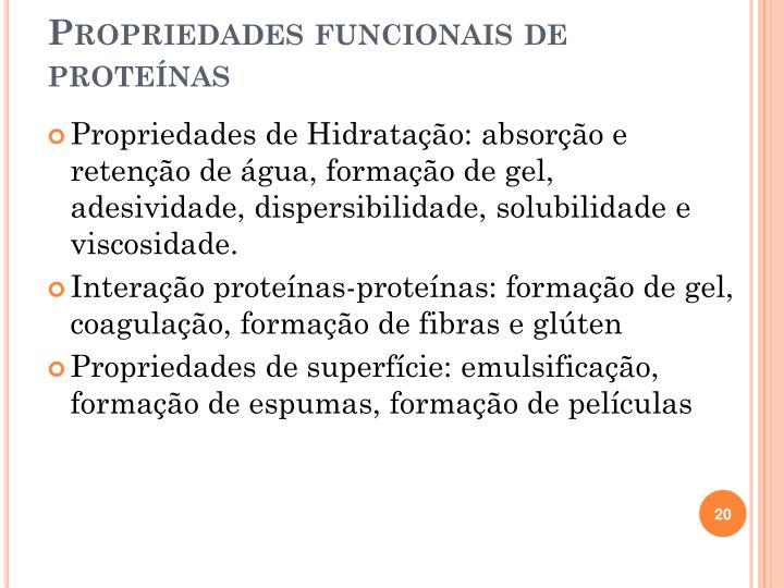 Propriedades funcionais de proteínas