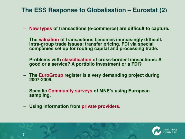 The ESS Response to Globalisation – Eurostat (2