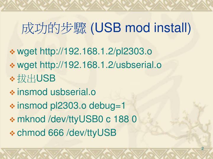Usb mod install