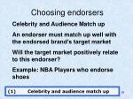 choosing endorsers
