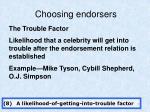 choosing endorsers7