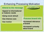 enhancing processing motivation
