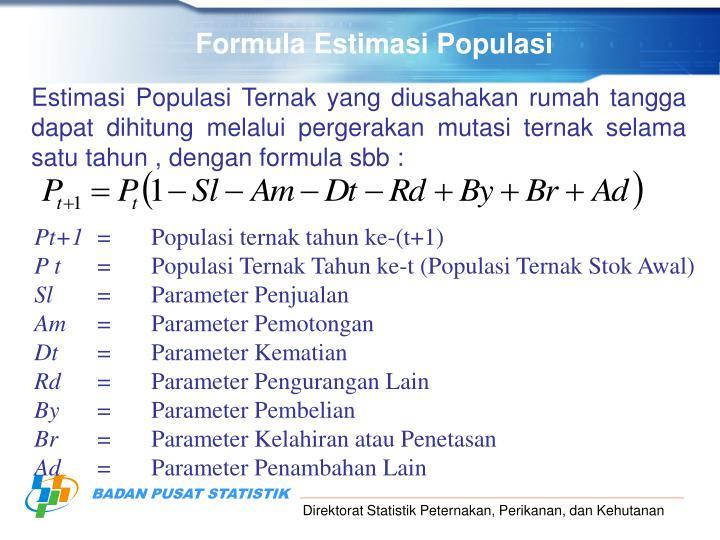 Formula Estimasi Populasi