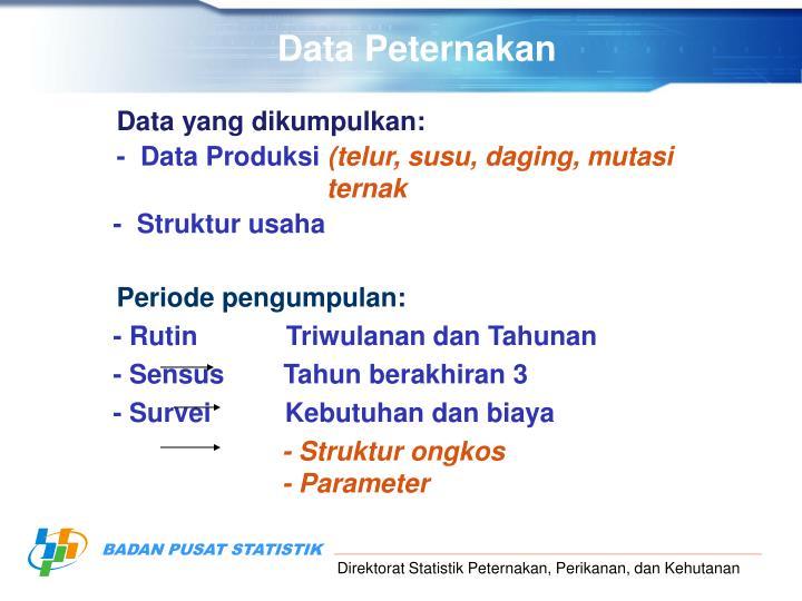 Data Peternakan