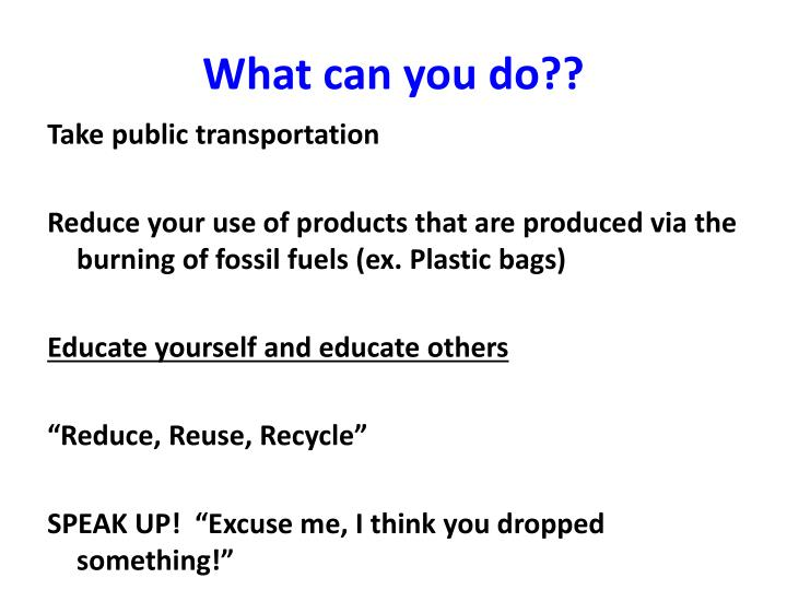 What can you do??