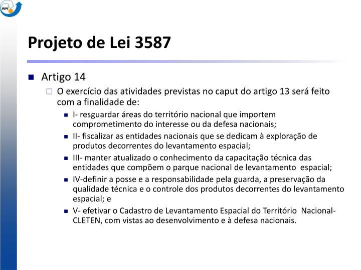 Projeto de Lei 3587