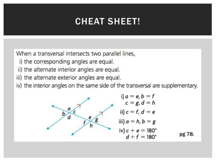 Cheat sheet!
