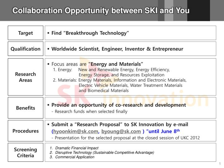 collaboration opportunity between ski and you n.