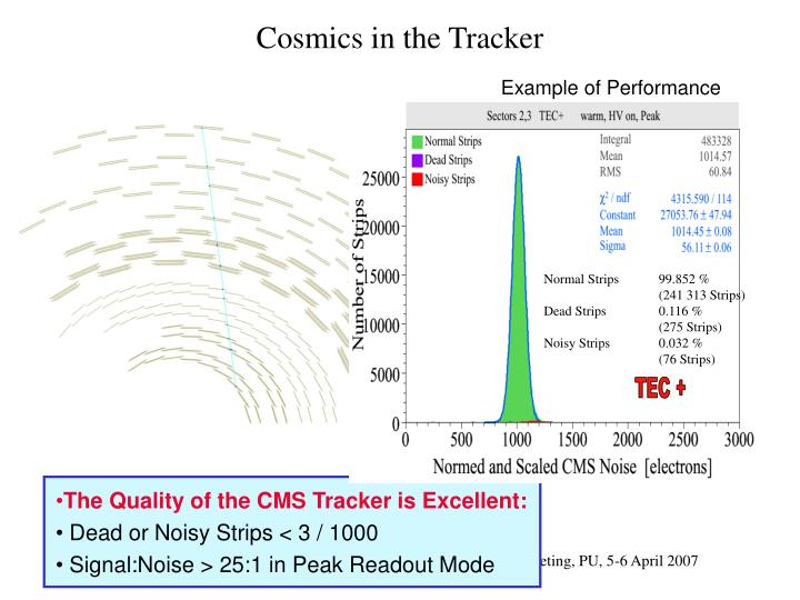 Cosmics in the Tracker