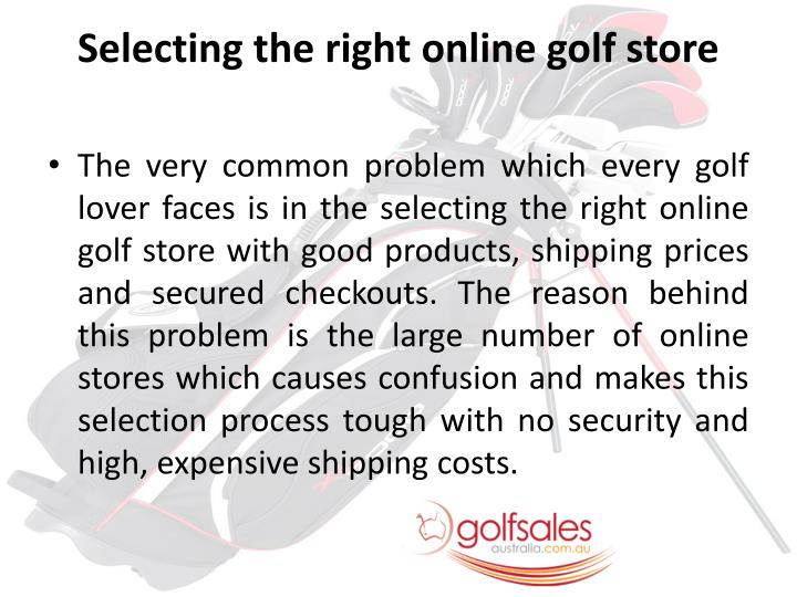 Selecting the right online golf store