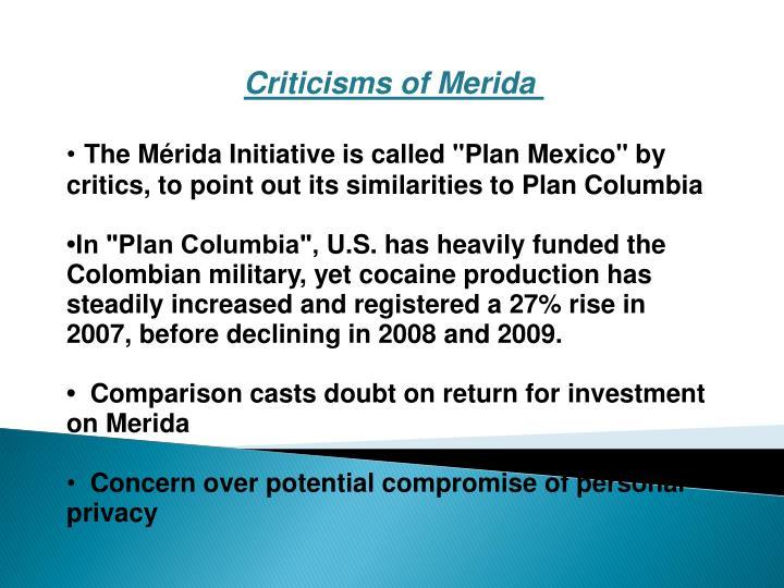 Criticisms of Merida