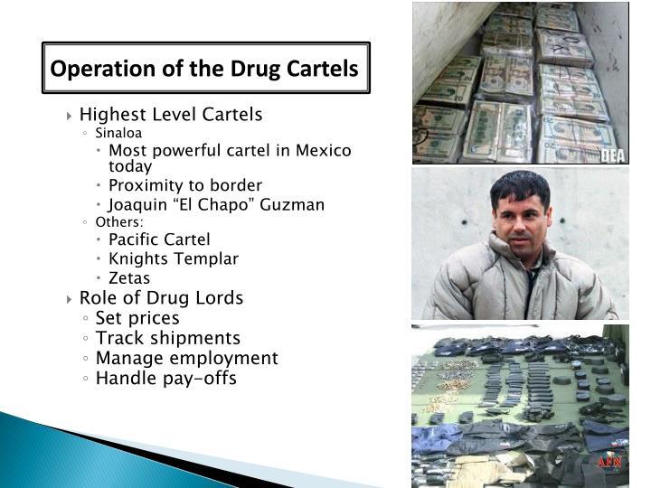 Operation of the Drug Cartels