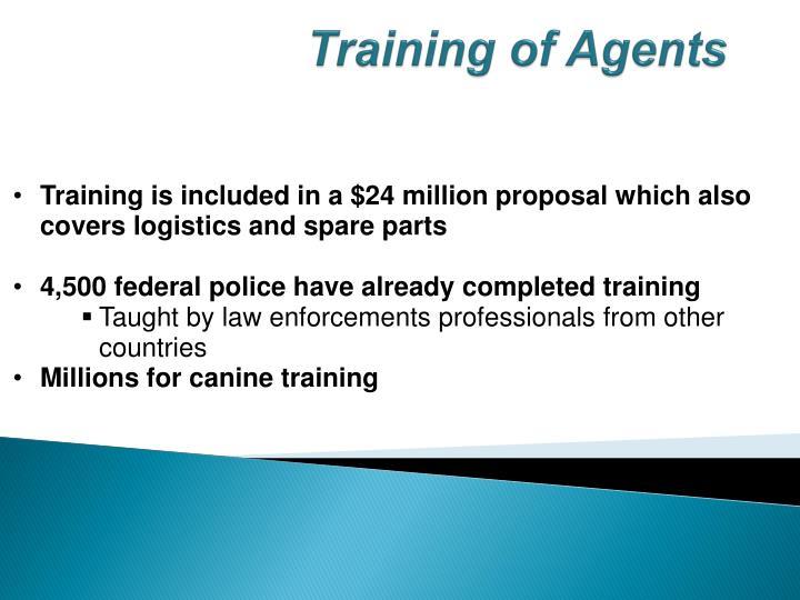 Training of Agents