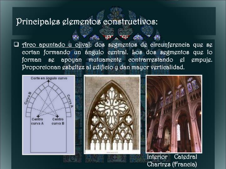 Principales elementos constructivos:
