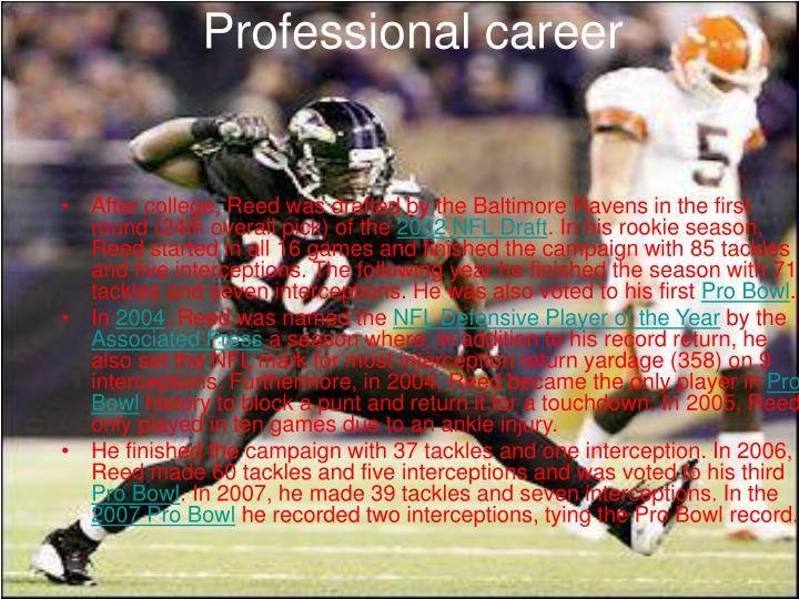 Professional career