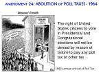 amendment 24 abolition of poll taxes 1964