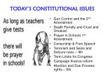 today s constitutional issues