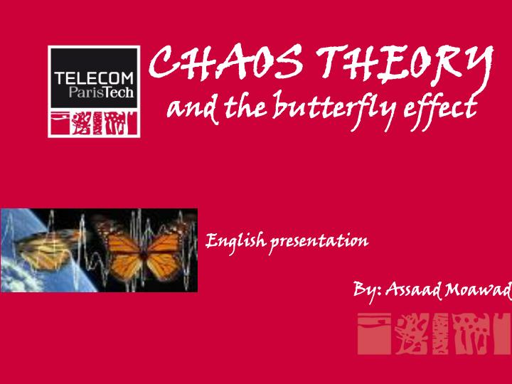 chaos theory and the butterfly effect n.