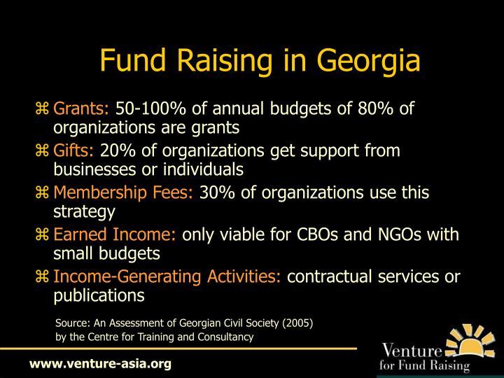 Fund Raising in Georgia