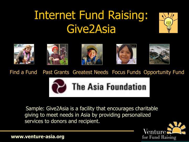 Internet Fund Raising: