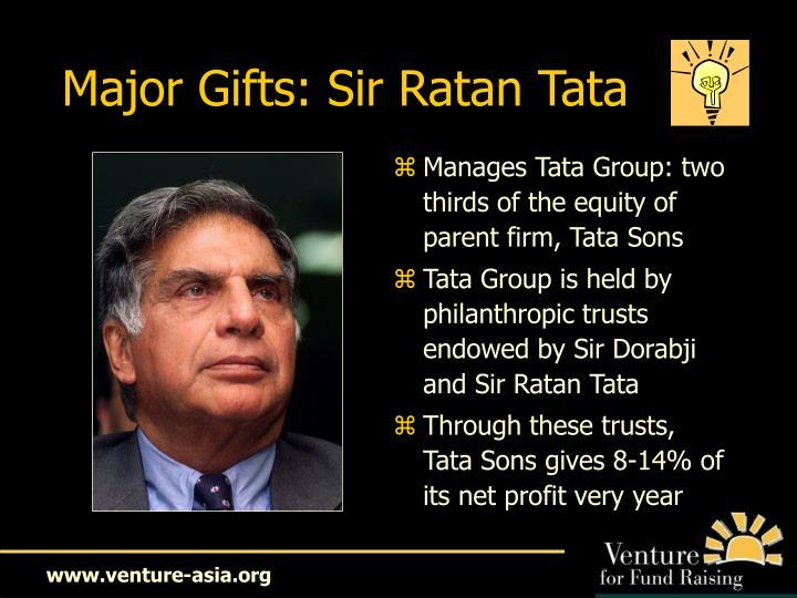 Major Gifts: Sir Ratan Tata