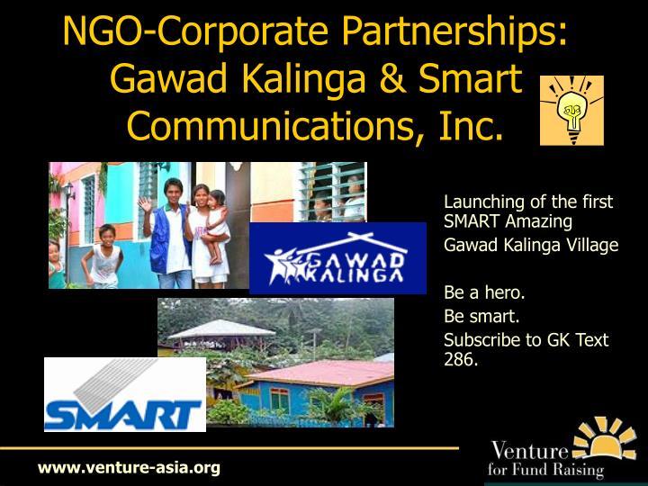 NGO-Corporate Partnerships: