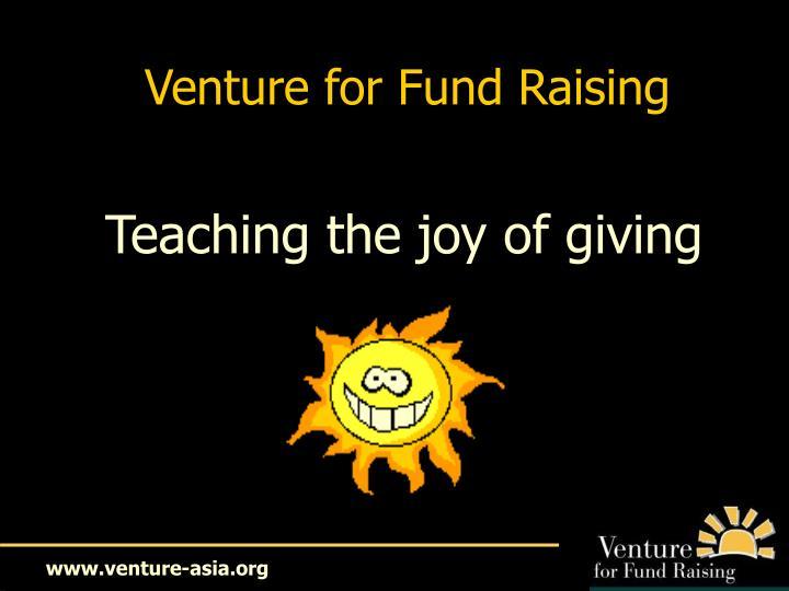 Venture for Fund Raising