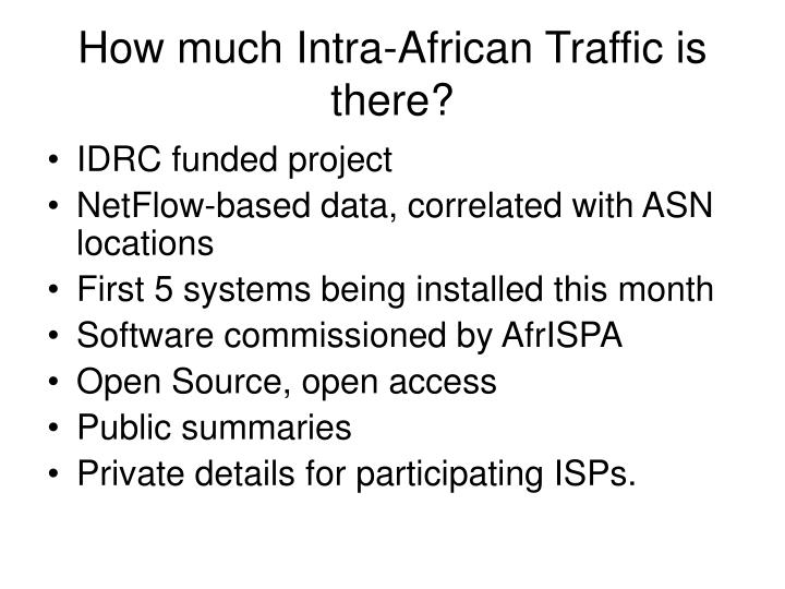 How much Intra-African Traffic is there?