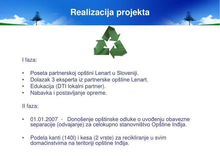 Realizacija projekta