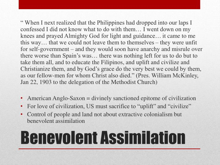 """"""" When I next realized that the Philippines had dropped into our laps I confessed I did not know what to do with them… I went down on my knees and prayed Almighty God for light and guidance…"""