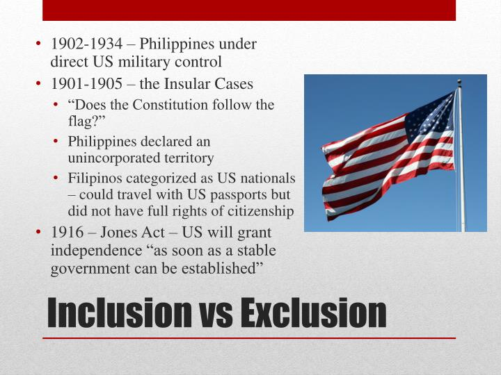 1902-1934 – Philippines under direct US military control